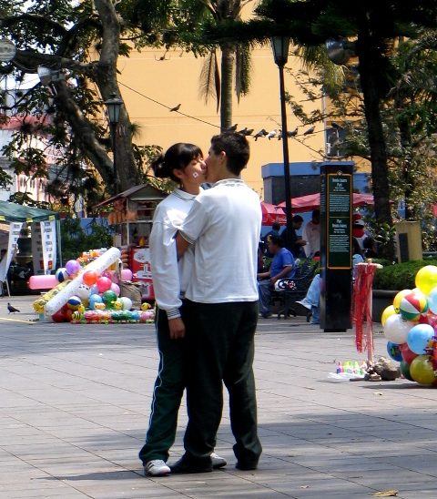 Couple in Zocálo of Xalapa